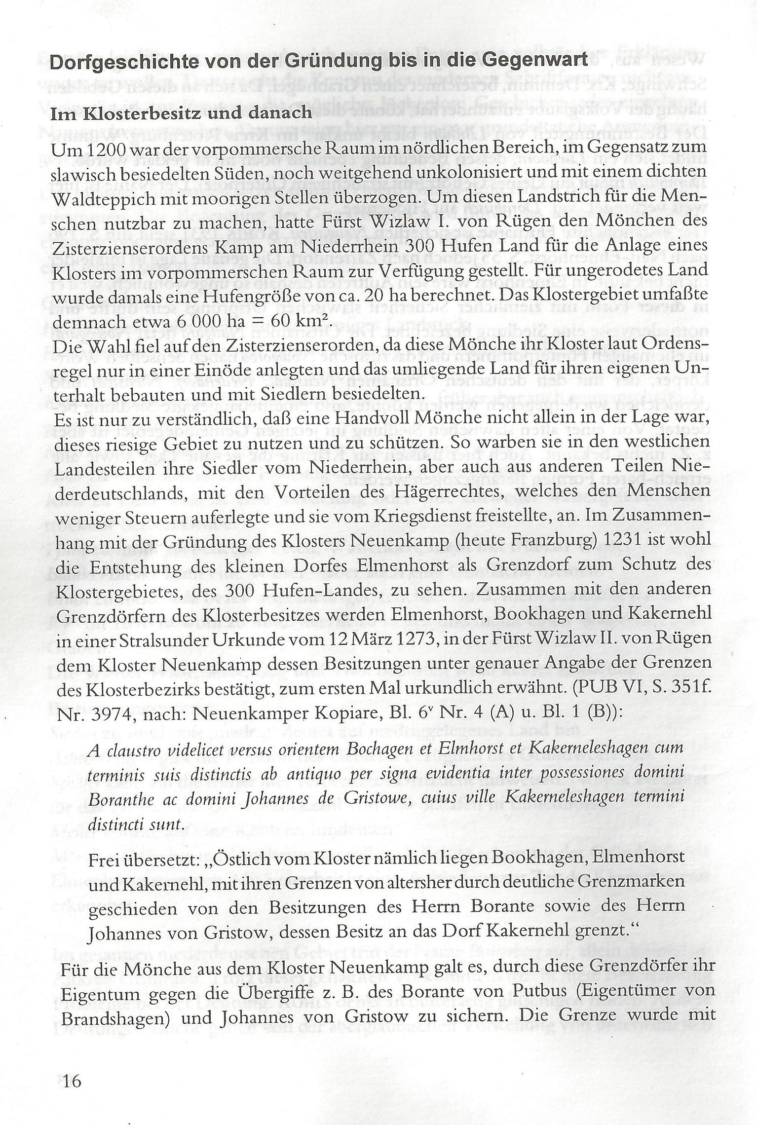 Dorfgeschichte von der Gründung bis in die Gegenwart (Seiten 016 - 050)