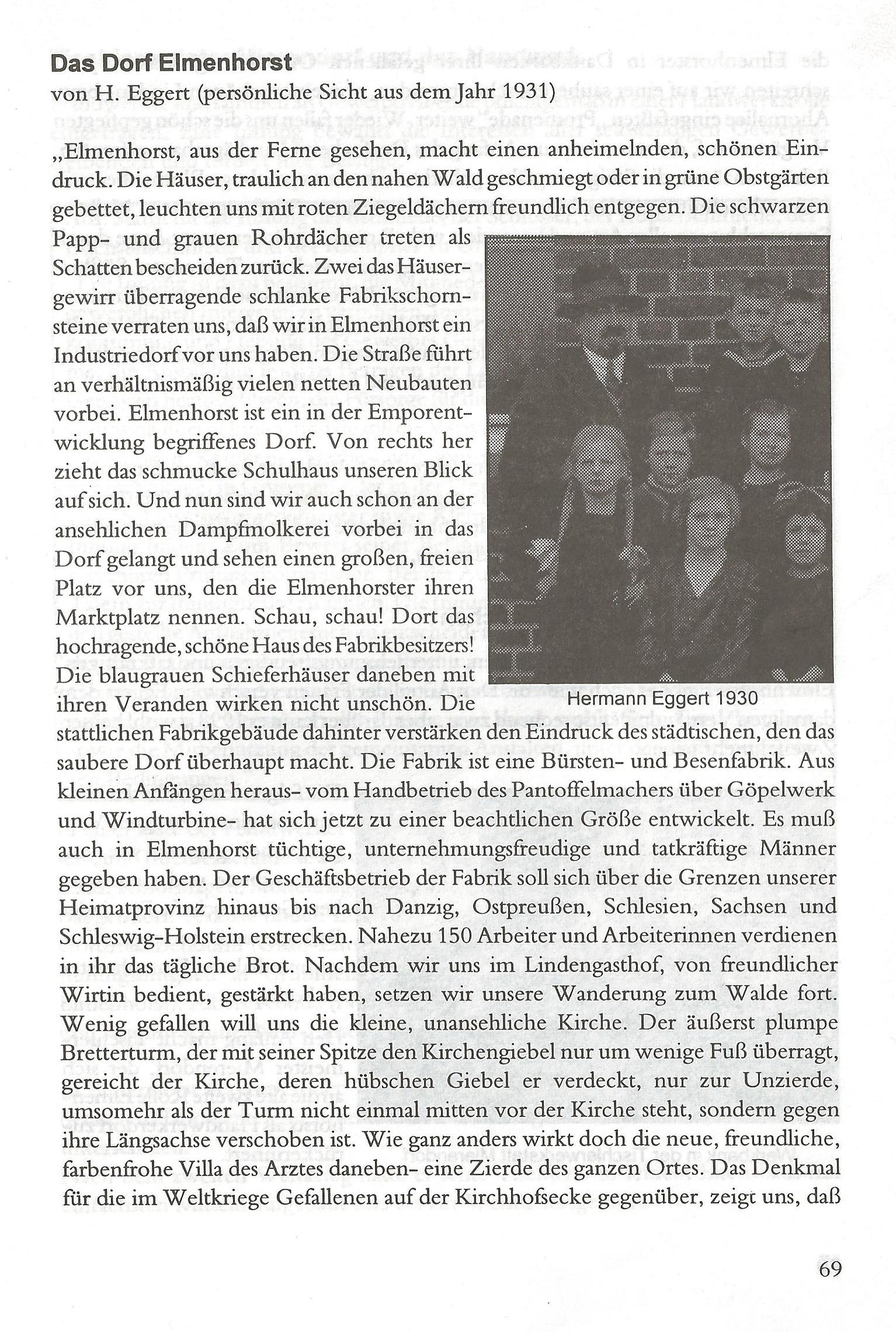 Das Dorf Elmenhorst (von H.Eggert) (Seiten 069 - 070)
