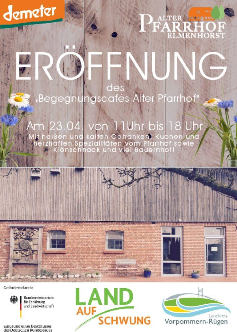 NEWS – 2017_04 Eröffnung des Begegnungscafes Alter Pfarrhof