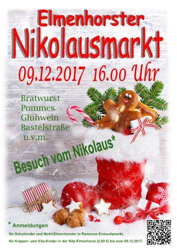 Veranstaltung – 2017_12 Nikolausmarkt (Plakat)