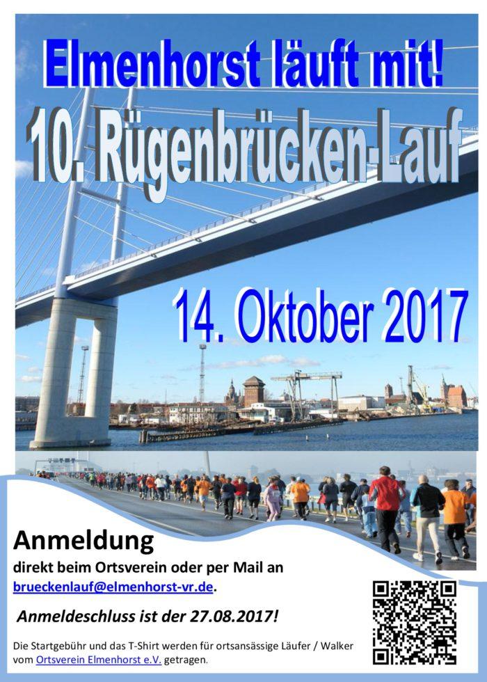 Veranstaltung – 2017_10 10. Rügenmarathon – Elmenhorst macht mit (Plakat)