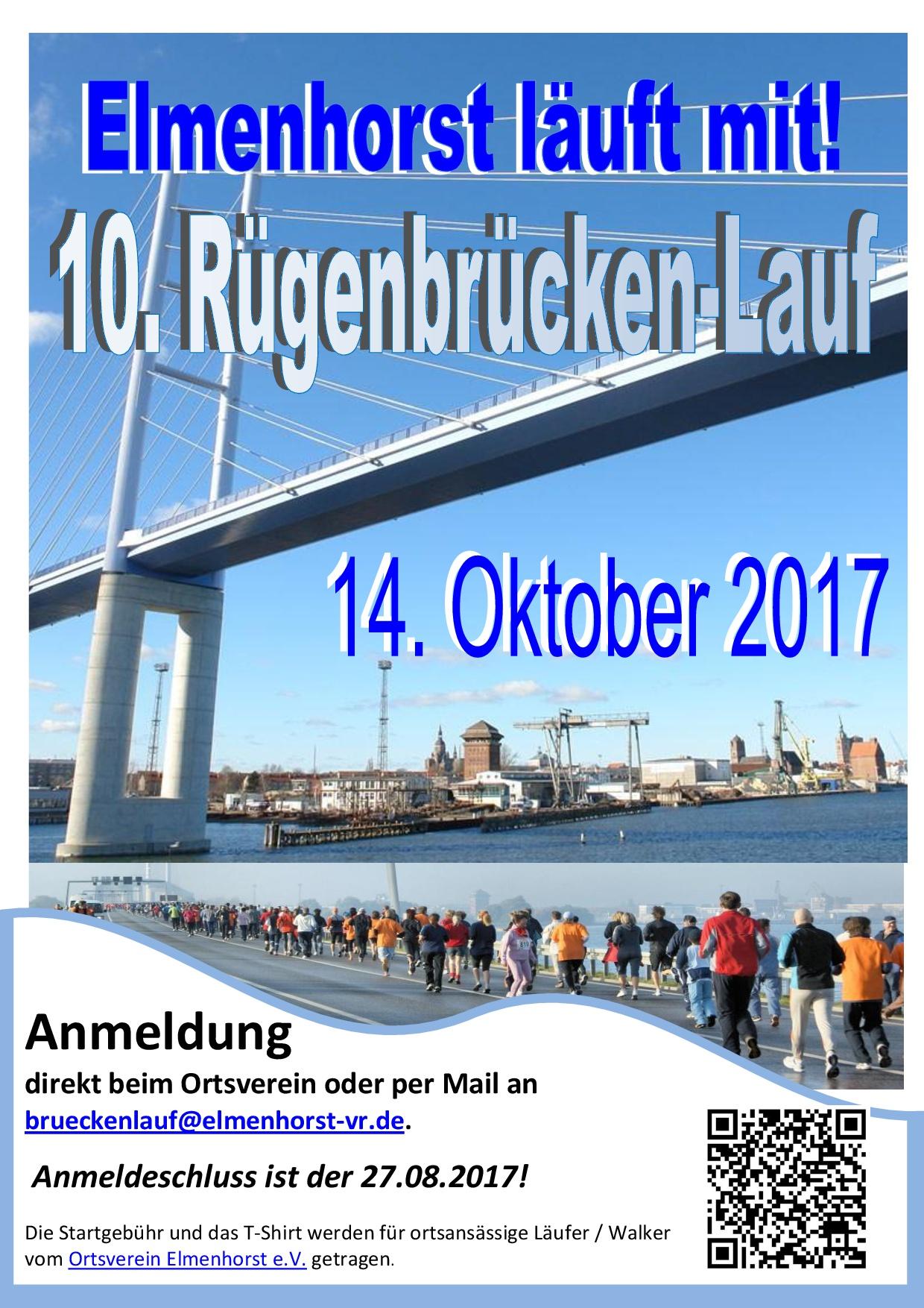 Veranstaltung - 2017_10 10. Rügenmarathon - Elmenhorst macht mit (Plakat)