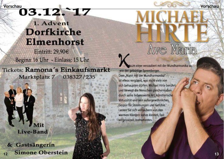 Veranstaltung – 2017_12 1. Advent 2017 – Kirche Elmenhorst musikalische Unterhaltung (u.a. mit Michael Hirte) (Plakat)