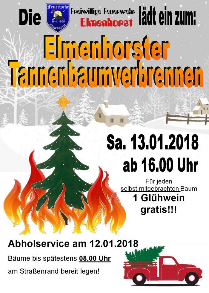 Veranstaltung – 2018_01 Weihnachtsbaumverbrennen (Plakat)