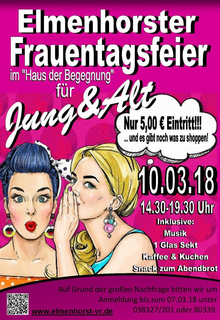 Veranstaltung – 2018_03 Frauentagsfeier (Plakat)