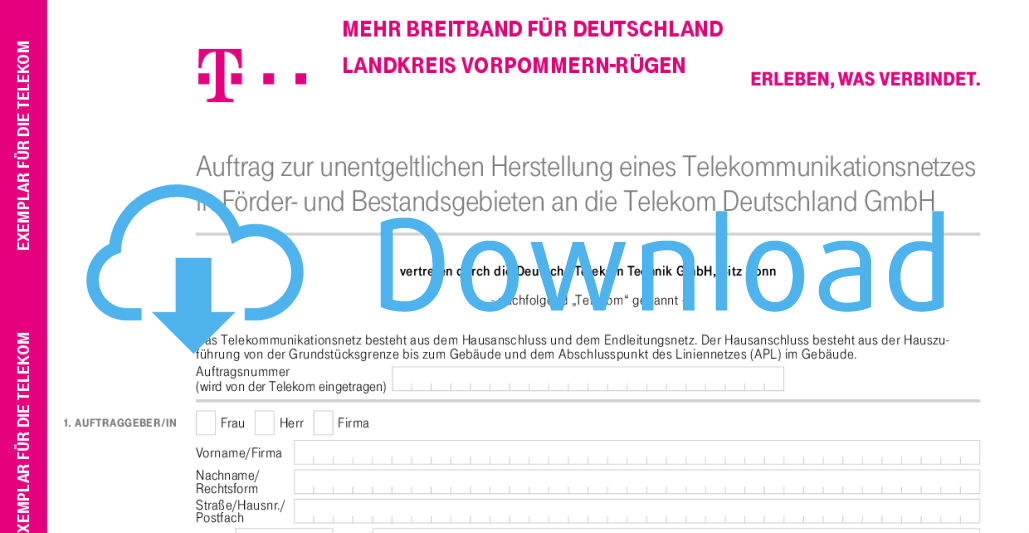 OZ berichtete – Amt rät: Telekom-Anträge runterladen