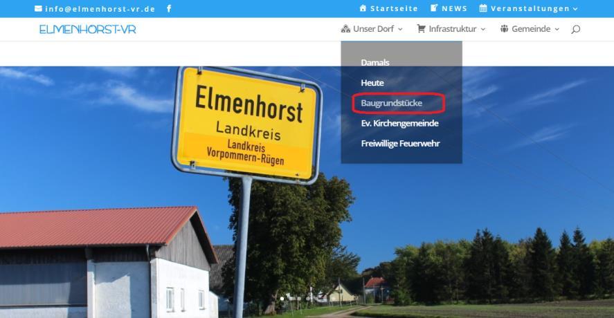 """In eigener Sache – neue Rubrik """"Baugrundstücke"""" auf der Webseite"""
