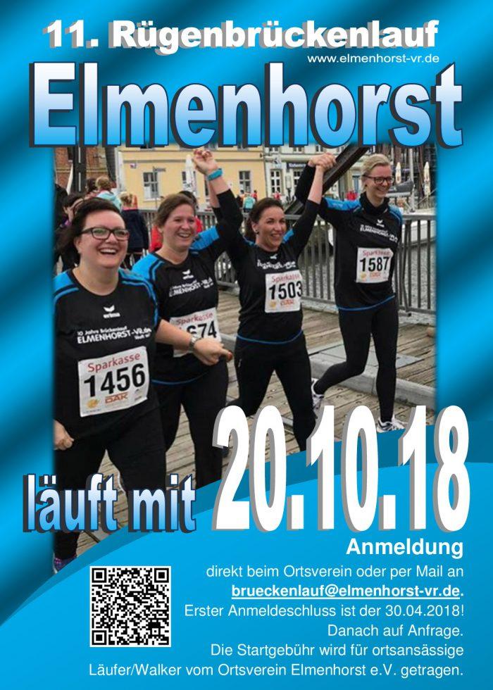 Veranstaltung – 2018_10 11. Rügenmarathon – Elmenhorst macht wieder mit (Plakat)