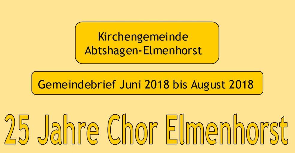 Evangelische Kirchengemeinde – Gemeindebrief 2018 (06 – 08)
