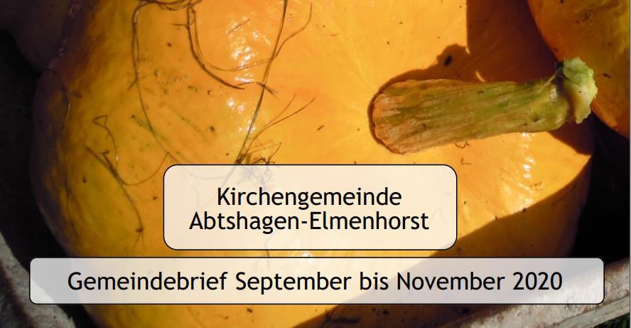 Evangelische Kirchengemeinde – Gemeindebrief 2020 (09-2020 – 11-2020) jetzt online